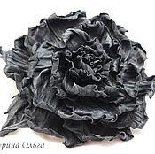 Украшения ручной работы. Ярмарка Мастеров - ручная работа Роза Паола  из чёрной кожи. Handmade.