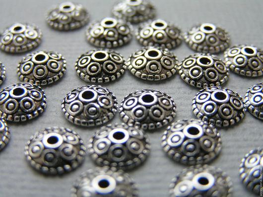 Серебро 925 пр. Шапочка для бусин 7.5 мм. Фурнитура серебро 925 пробы