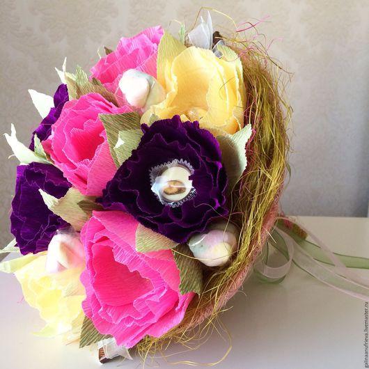 Букеты ручной работы. Ярмарка Мастеров - ручная работа. Купить Букет на 1 сентября. Handmade. Комбинированный, розы, лучший подарок