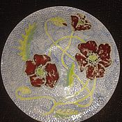"""Посуда ручной работы. Ярмарка Мастеров - ручная работа Тарелка """"Маки"""". Handmade."""