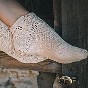 Аксессуары ручной работы. Ярмарка Мастеров - ручная работа носочки укороченные. Handmade.