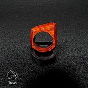 Украшения handmade. Livemaster - original item The ring is made of Paduk Low Poly 2. Handmade.