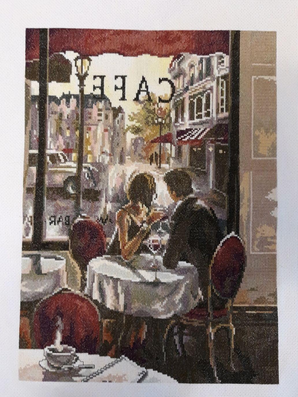 """Вышивка крестом """"Любимое кафе"""", Картины, Лев Толстой,  Фото №1"""