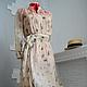 """Платья ручной работы. Ярмарка Мастеров - ручная работа. Купить Платье из шёлкового шифона и сорочка из батиста """"Прикосновение"""". Handmade."""
