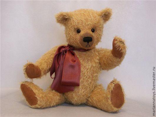 Мишки Тедди ручной работы. Ярмарка Мастеров - ручная работа. Купить Мишаня. Handmade. Желтый, мишка, мохер