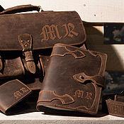 Сумки и аксессуары handmade. Livemaster - original item Men`s briefcase (set). Handmade.