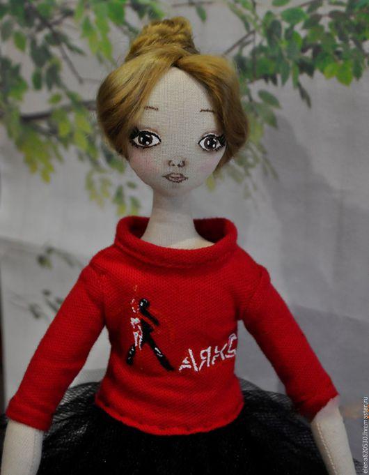 Коллекционные куклы ручной работы. Ярмарка Мастеров - ручная работа. Купить Танцовщица. Handmade. Ярко-красный, таллисман клуба, холлофайбер