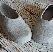 Обувь ручной работы. Ярмарка Мастеров - ручная работа Тапочки-балетки Асфальт. Handmade.