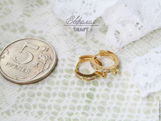 Для украшений ручной работы. Ярмарка Мастеров - ручная работа. Купить Швенза кольцо позолота с цирконами Южная Корея. Handmade.