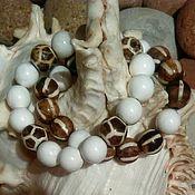 Бусина Дзи ручной работы. Ярмарка Мастеров - ручная работа Бусина Дзи - сет браслетов -  талисман на здоровье. Handmade.