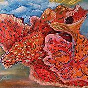 """Картины и панно ручной работы. Ярмарка Мастеров - ручная работа Картина маслом """"А я летаю и пою"""", авторская. картина девушка. картина. Handmade."""