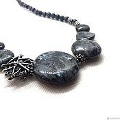 Украшения handmade. Livemaster - original item Necklace Peter.My Circles. Larvikite, accessories Anna Black silver. Handmade.
