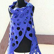 """Одежда ручной работы. Ярмарка Мастеров - ручная работа жилет ажурный """"Индиго-2"""". Handmade."""
