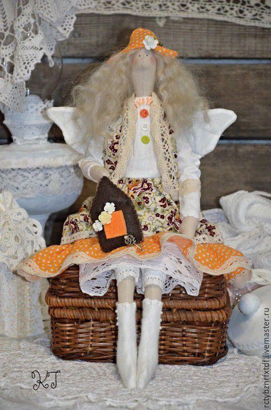 """Куклы Тильды ручной работы. Ярмарка Мастеров - ручная работа. Купить Розетта """"Фея домашнего уюта"""" текстильная, интерьерная кукла Тильда.. Handmade."""