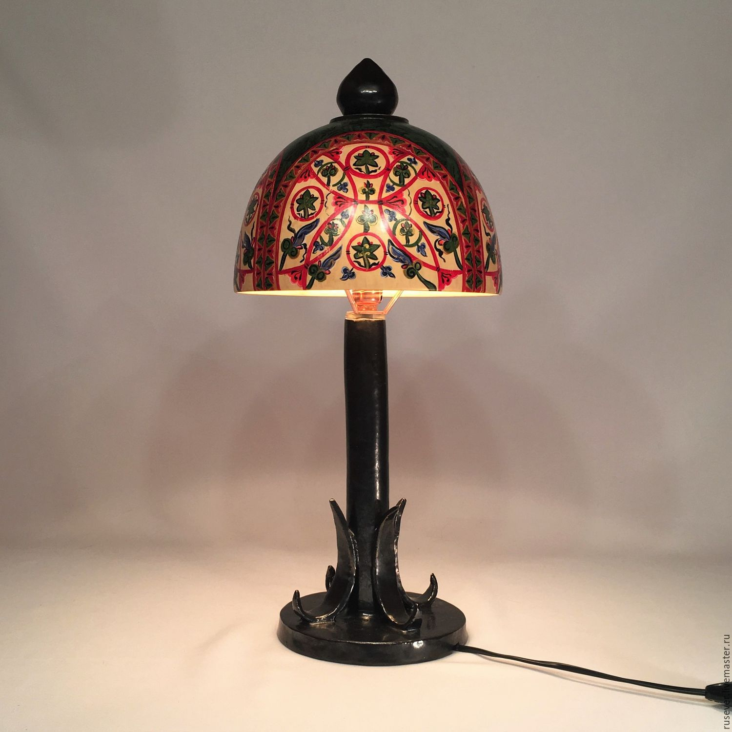 Russian luxurytable lamp from wood and ceramics shop online on lamps handmade livemaster handmade buy russian luxurytable lamp from mozeypictures Images