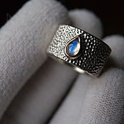 Украшения handmade. Livemaster - original item Ring: Rainbow Moonstone Teardrop. Handmade.