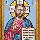 Иконы ручной работы. Ярмарка Мастеров - ручная работа. Купить Вышитая икона Господа Иисуса Христа. Handmade. Разноцветный, подарок