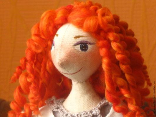 Куклы тыквоголовки ручной работы. Ярмарка Мастеров - ручная работа. Купить лучик солнца. Handmade. Серый, Рыжая, бохо-стиль