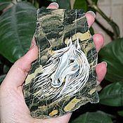 Сувениры и подарки handmade. Livemaster - original item Horse - symbol of 2014 magnet Jasper. Handmade.