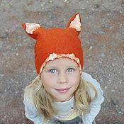 Работы для детей, handmade. Livemaster - original item Hat-Fox. Handmade.