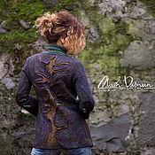 """Одежда ручной работы. Ярмарка Мастеров - ручная работа Валяный пиджак """" Кольца времени"""". Handmade."""