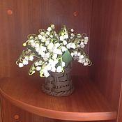 Цветы и флористика ручной работы. Ярмарка Мастеров - ручная работа Ландыши из полимерной глины. Handmade.