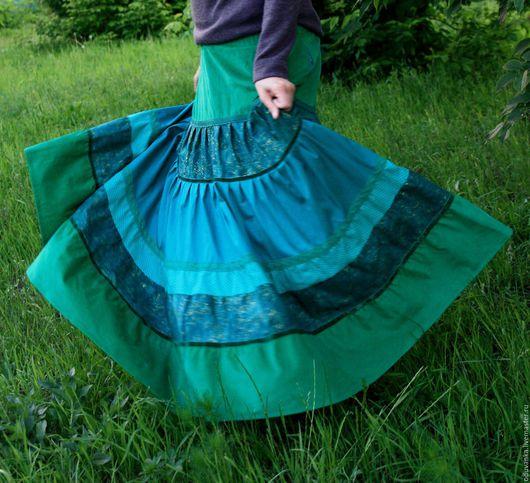 Юбки ручной работы. Ярмарка Мастеров - ручная работа. Купить Зеленая нарядная юбочка. Handmade. Юбка, теплая юбка, зеленый