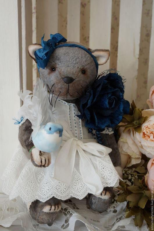 Мишки Тедди ручной работы. Ярмарка Мастеров - ручная работа. Купить Амели - плюшевый котик. Handmade. Серый, авторская игрушка