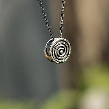 """Украшения ручной работы. Ярмарка Мастеров - ручная работа кулон """"Спираль"""", серебро. Handmade."""