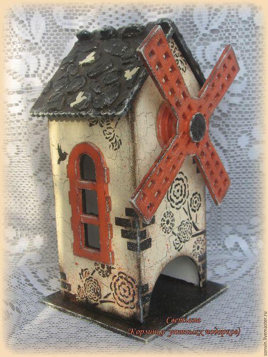 Кухня ручной работы. Ярмарка Мастеров - ручная работа. Купить Чайный домик Мельница и птицы. Handmade. Чайный домик, оранжевый