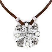 Украшения handmade. Livemaster - original item ECO necklace in Portuguese oak spiral large C0015b. Handmade.