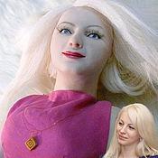 Куклы и игрушки ручной работы. Ярмарка Мастеров - ручная работа Кукла Портретная Леди в Малиновом на Заказ. Handmade.