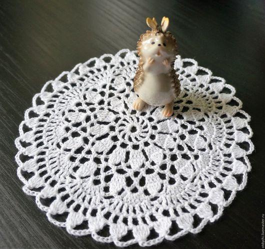 Текстиль, ковры ручной работы. Ярмарка Мастеров - ручная работа. Купить Маленькие декоративные салфеточки. Handmade. Белый, для декорирования
