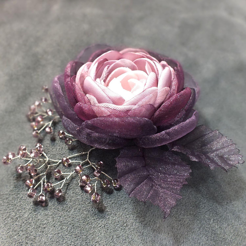 Livemaster - handmade. Buy BlackBerry Rum. Brooch - handmade flower made ...