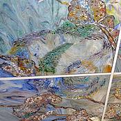 """Для дома и интерьера ручной работы. Ярмарка Мастеров - ручная работа Подвесной витражный потолок-в стиле """"Звездной ночи""""Ван-Гога. .. Handmade."""