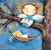"""Картины ручной работы. Ярмарка Мастеров - ручная работа Картина """"Я оберегаю твой сон"""". Handmade."""