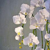 Цветы и флористика ручной работы. Ярмарка Мастеров - ручная работа Орхидея бабочка.Холодный фарфор. Handmade.