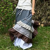"Одежда ручной работы. Ярмарка Мастеров - ручная работа Льняная юбка ""Фантазия сна"". Handmade."