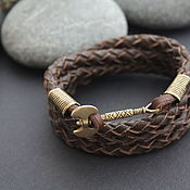 Bead bracelet handmade. Livemaster - original item Bracelets with two sided bronze axe. Handmade.