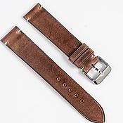 Украшения handmade. Livemaster - original item Coffee Waxed Genuine Leather Strap. Handmade.