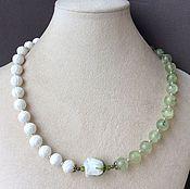 Украшения handmade. Livemaster - original item Necklace-choker LILY of prehnite and agate. Handmade.