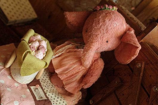 Мишки Тедди ручной работы. Ярмарка Мастеров - ручная работа. Купить А я девушка весна... я весна.. я весна... Handmade. розовый