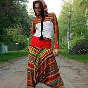 Одежда ручной работы. Ярмарка Мастеров - ручная работа Модные трикотажные штаны(костюм) Афгани, Али-Баба.. Handmade.