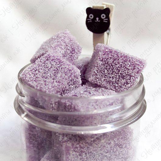 """Скраб ручной работы. Ярмарка Мастеров - ручная работа. Купить Сахарный скраб для тела """"Черничный пирог"""". Handmade. Фиолетовый, скраб"""