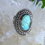 Украшения handmade. Livemaster - original item Ring Oval with labradorite large. Handmade.
