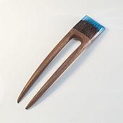 Украшения ручной работы. Ярмарка Мастеров - ручная работа Заколка для волос из ореха и смолы. Handmade.