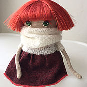 Куклы и игрушки ручной работы. Ярмарка Мастеров - ручная работа авторская кукла -Рыжеволосая. Handmade.