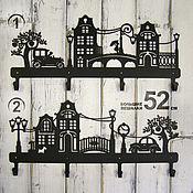 Для дома и интерьера ручной работы. Ярмарка Мастеров - ручная работа Вешалки металлические Старый город большие. Handmade.