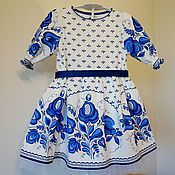 Детское платье Гжель