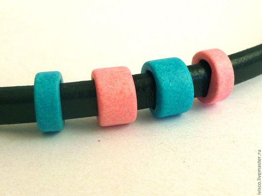 Для украшений ручной работы. Ярмарка Мастеров - ручная работа. Купить Керамические бусины для Regaliz розовые и голубые. Handmade. Розовый